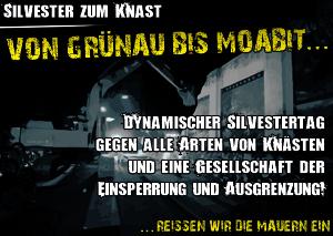 Dynamischer Silvestertag gegen alle Arten von Knästen und eine Gesellschaft der Einsperrung und Ausgrenzung!
