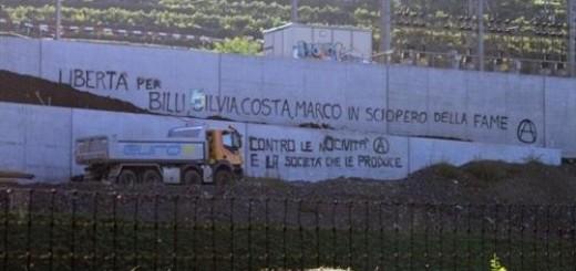 """Solidarität mit Marco Carmenisch, Silvia Guerini, Luca """"Billy"""" Bernasconi und Costantino Ragusa"""