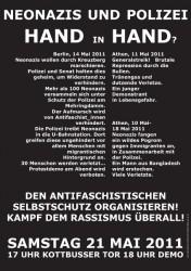 Demo gegen Faschismus und Staatsgewalt in Berlin am 21. Mai 2011