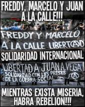 Freiheit für Freddy Fuentevilla, Marcelo Villarroel und Juan Aliste
