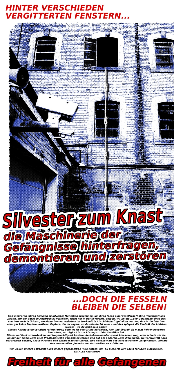 Silvester zum Knast-Demo am 31.12.2011 und Veranstaltungsmonat im Dezember