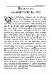 Brief an die anarchistische Galaxie - cover