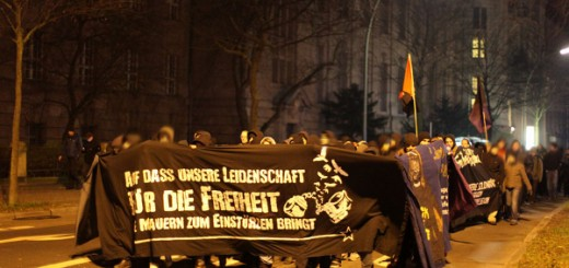 Silvester zum Knast - Demonstration 2011 in Berlin