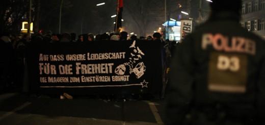 Silvester zum Knast-Demonstration in Berlin 2011