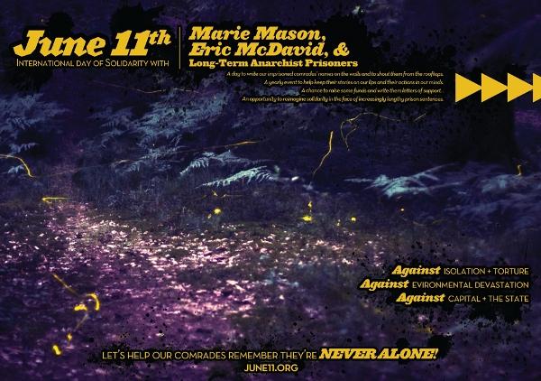 11. Juni - Internationaler Tag der Solidarität mit Eric McDavid und Marie Mason und anarchistischen Langzeitgefangenen