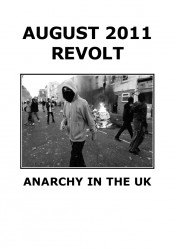 August 2011 Revolt - Anarchy in the UK - cover