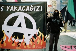 anarchistische Demo in Istanbul am 1. Mai 2012