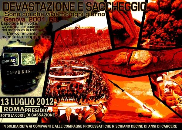 Aufruf für eine internationale Mobilisierung in Solidarität mit den Verurteilten wegen den Ausschreitungen in Genua im Jahr 2001