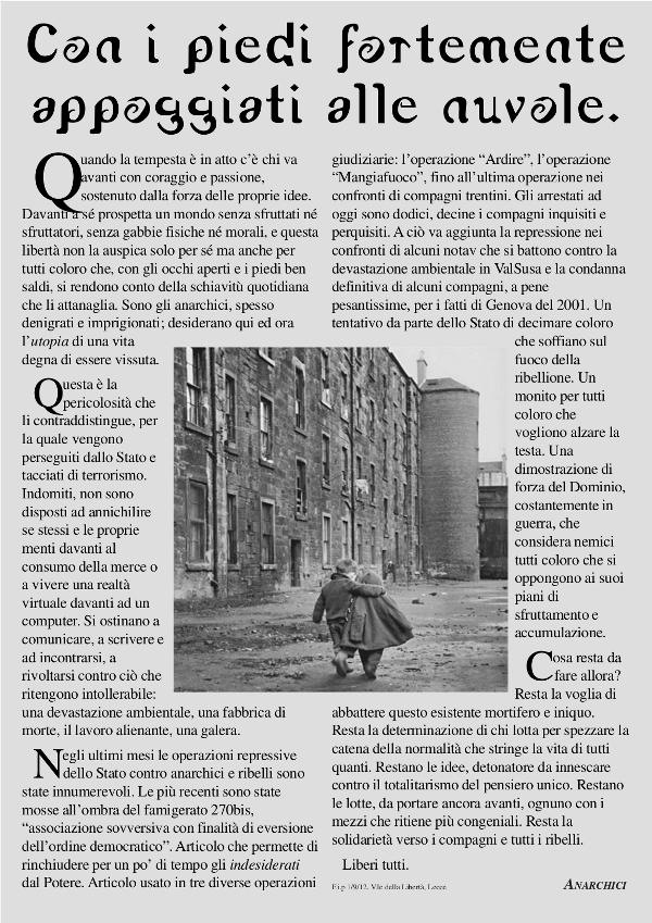 Con i piedi... - solidarisches Poster aus Italien