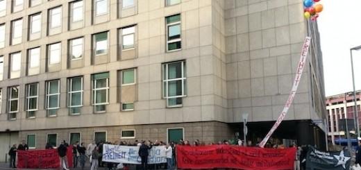 Kundgebung vor dem ersten Prozesstag gegen Sonja und Christian am 21.09.12