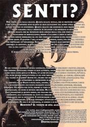 Senti - solidarisches Poster aus Italien