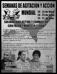 Weltweite Agitations- und Aktionswochen für subversive Gefangene in Chile
