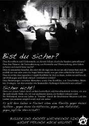 Bist du sicher? - Poster gegen Bullen