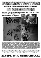 Berlin: Demonstration am 27. September in Solidarität mit den antifaschistischen Kämpfen in Griechenland