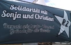 Sonja und Christian-Soli-Transparent