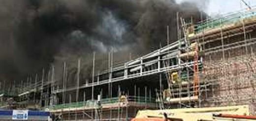Feuer im Schusswaffen-Trainingszentrum in Portishead