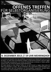 Einladung zum offenen Treffen für Selbstorganisierung in Berlin