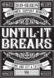 Tattoo-Circus Basel - UNTIL IT BREAKS – SOLIDARITY AGAINST PRISONS