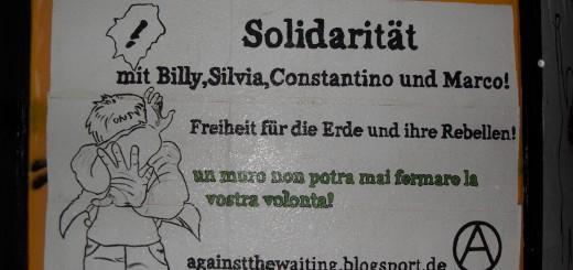 Solidarität mit den in der Schweiz inhaftierten Anarchisten Marco Camenisch, Luca (Billy) Bernasconi, Costantino Ragusa und Silvia Guerini