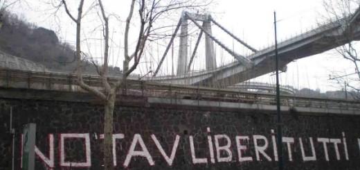 Solidarisches Graffiti mit den Gefangenen der No-TAV-Bewegung in Italien